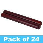 Theodore Wooden Claves - Quality Redwood - Pack of 24 Pairs