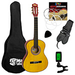 Childrens Classical Guitar Kids Pack 3/4 Size with Free Tuner by Mad About