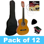Tiger 1/2 Size Classical Guitar - Pack of 12 With 2 Tuners