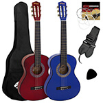 3a98f215a27 Tiger 4/4 Size Classical Spanish Guitar Beginners Complete Starter Kit