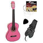 Jasmin Childrens 3/4 Size Classical Guitar - Pink
