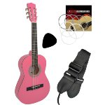 Tiger 1/4 Size Beginners  Classical Guitar - Pink