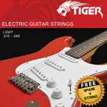 Tiger Electric Guitar Strings Light - 10 - 46