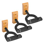 Tiger Pack of 3 Wooden Guitar Wall Mount