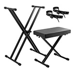 Tiger Keyboard Stand and Stool Set - Securing Straps Included