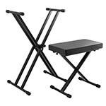 Tiger Deluxe Keyboard Stand and Stool Pack