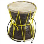World Rhythm Authentic Damru (Dugdugi) Natural Skin Hand Drum