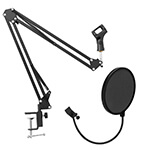 Tiger Studio Microphone Boom Table Arm & Pop Screen Filter Set