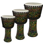 World Rhythm Synthetic Green Djembe Drums