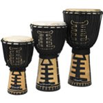 World Rhythm Jammer Tribal Black Djembe Drums