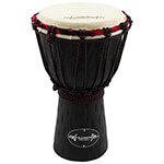 30cm Student Wooden Djembe Drum by World Rhythm Percussion – African Drum in Black