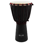 50cm Student Wooden Djembe Drum by World Rhythm – African Drum in Black