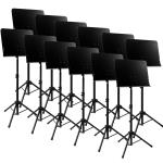 Tiger Pack of 12 Solid Desk Orchestra Music Stands - New 2016 Improved Design