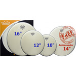 Remo ProPack Ambassador Coated Drum Head Pack
