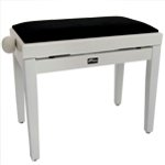 Tiger Adjustable Piano Stool Bench - Classic White