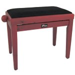Tiger Adjustable Piano Stool Bench - Classic Red Wood