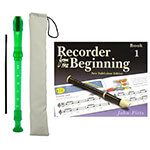 Tiger Descant Recorder with Carry Case and Recorder from the Beginning Book 1