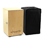 World Rhythm Cajon with Adjustable Snare, Padded Gig Bag and Cushion - Natural