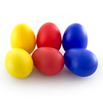 Tiger Egg Shakers - Pack of 6 - Red, Yellow and Blue