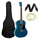 Tiger Acoustic Guitar in Blue - School Pack