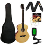 Tiger Acoustic Guitar in Natural - School Pack