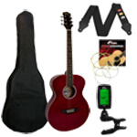 Tiger Acoustic Guitar in Red - School Pack
