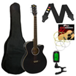 Tiger Electro Acoustic Guitar in Black - School Pack