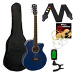 Tiger Electro Acoustic Guitar in Blue - School Pack