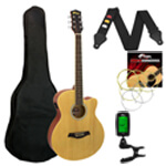 Tiger Electro Acoustic Guitar in Natural - School Pack