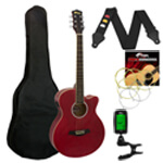 Tiger Electro Acoustic Guitar in Red - School Pack