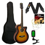 Tiger Electro Acoustic Guitar in Sunburst - School Pack