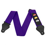 Guitar Strap with Plectrum Holders in Purple