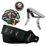 Tiger Guitar Strap, Picks and Capo Pack
