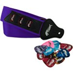 Tiger Purple Guitar Strap with 12 Guitar Picks