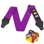 Tiger Purple Guitar Strap and 12 Free Picks