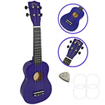 Soprano Ukulele by Mad About - Purple