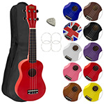 Soprano Ukulele in Red with Uke Bag