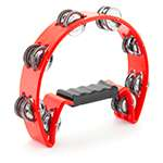 Tiger Half Moon Tambourine in Red
