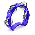 Tiger Mini Kids Half Moon Tambourine - Childrens Tambourine with Jingles - Blue