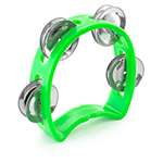 Tiger Mini Kids Half Moon Tambourine - Childrens Tambourine with Jingles - Green