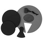 Tiger 3 Piece Junior Drum Kit Silencer Pad Set – Mute Pads for Junior Drums Kits