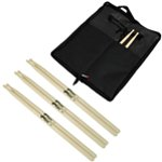 Tiger 3 Pack of Maple Drumsticks and Drumstick Bag Pack