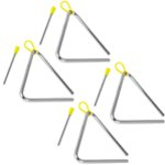 Tiger 15cm Pack of 4 Triangle Instrument with Beater