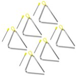 Tiger 15cm Pack of 6 Triangle Instrument with Beater