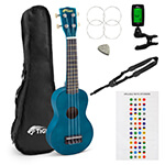 Tiger Soprano Ukulele Learner\\'\\'s Pack – Bag, Strap, Fret Stickers, Pick & Tuner