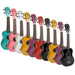 Tiger Beginners Ukulele with Free Bag - Pack of 10 Assorted Colours