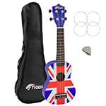 Tiger UKE10-UK Union Jack Soprano Ukulele with Bag, Felt Pick & Spare Strings