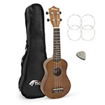 Tiger Natural Beginner Soprano Ukulele with Bag