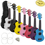 Tiger Beginner Soprano Ukulele with FREE Uke Bag