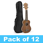Tiger Soprano Ukulele in Natural - School Pack of 12